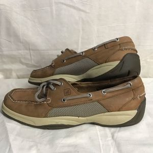 Sperry Topsider Intrepid Nubuck Boat Shoes 9 Wide